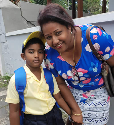 Kaaviyan and his mum Devi