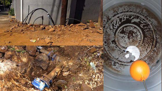 Travaux grossiers entrepris par la CWA à Coromandel - L'eau coule à peine depuis trois jours : les habitants exaspérés
