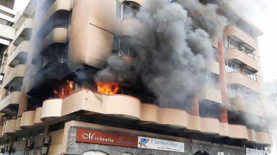 Port-Louis : l'incendie au bâtiment Fon Sing a été circonscrit
