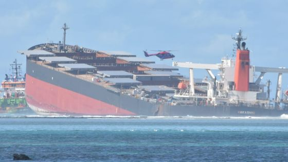 Pas de fuite d'huile après la cassure du MV Wakashio selon le CP Khemraj Servansing