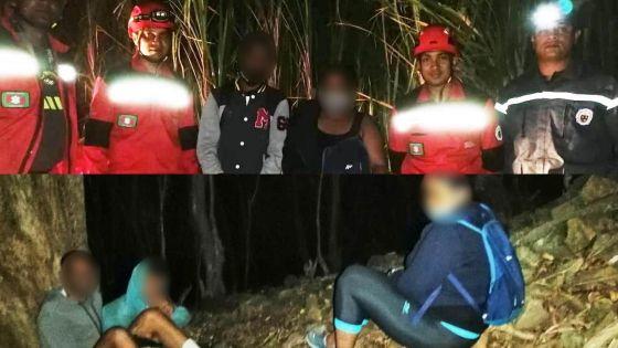 Égarés sur la montagne du Lion : quatre randonneurs localisés grâce à leur lampe torche