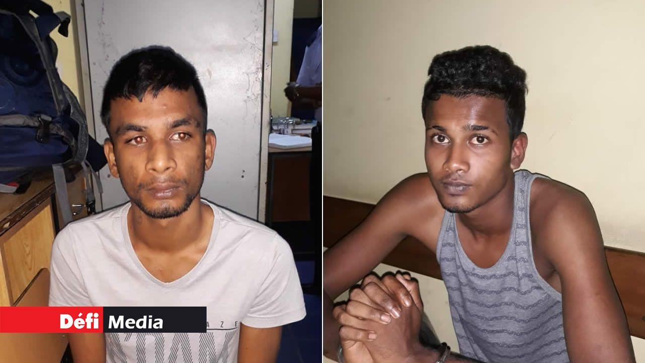 Deekesh Teeka et Hanesh Seechurn.